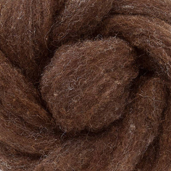 Carded Chocolate Wool 300g (10.5 oz)